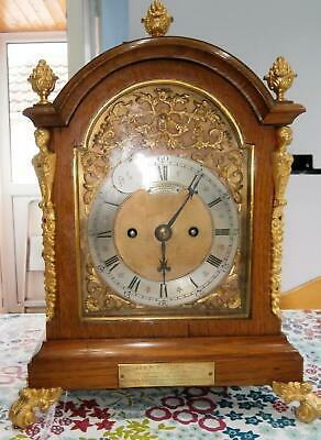 Goldsmiths & Company Oak & Ormolou Double Fusee Bracket Clock G.W.O.