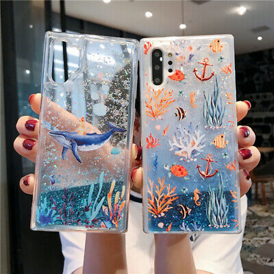 For Samsung Galaxy Note 10 Plus S10 Cute Soft Liquid Quicksand Bling Case Cover