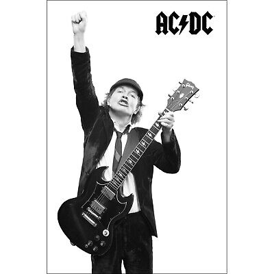 AC/DC Angus Poster Flag Official Premium Textile Fabric Wall Banner ACDC AC-DC