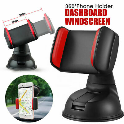 Universal 360°In Car Mobile Phone Holder Suction Cup Mount Windscreen Dashboard