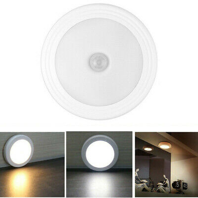1X 6LED Motion Sensor Night Light Indoor Outdoor Battery Operated Stairs Hallway
