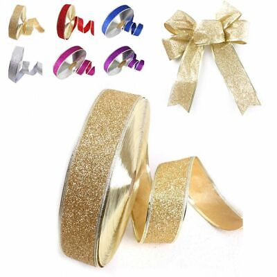 Favors Party Decoration Pretty Silk Gift Wrapping Card Decor Glitter Ribbon