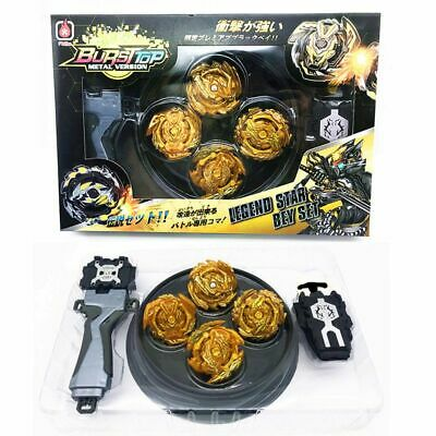 4PCS Limited Gold Beyblade Burst Set W/ Grip Wired/Ruler Launcher Kid Gift Toy