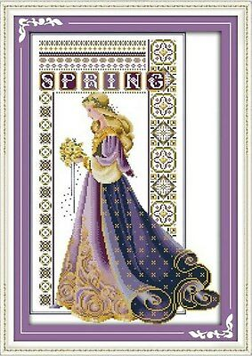 HOLDING HANDS COUNTED CROSS STITCH KIT 14 COUNT AIDA 27x21CM