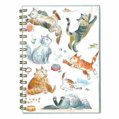 Wiro A5 notebook cat design 80 sheets of ruled paper 100/% to Cat Chat Charity