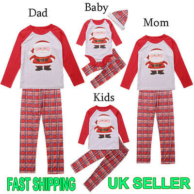 XMAS PJs Family Matching Adult Women Kids Christmas Nightwear Pyjamas Pajamas UK
