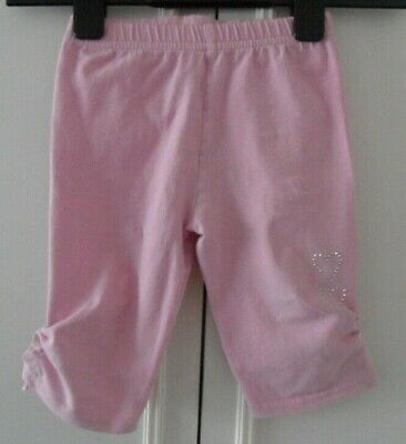 Xemmil Pink Girls 2-3.5 Yrs Cropped Summer Trousers Sparkling Heart Decor