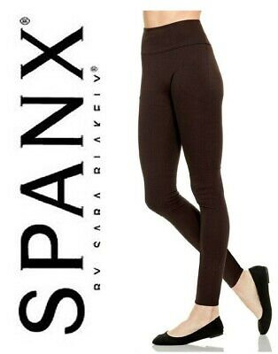 SPANX Assets Red Hot Label Structured Leggings Pintuck BNWT Midnight Brown