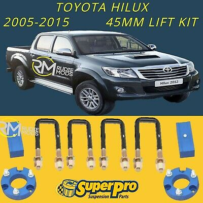 Super Pro TRC096LK Toyota Hilux 2005 - 2015 45mm Suspension Lift Kit