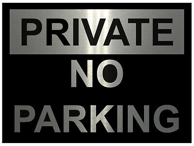Private Parking Aluminium Metal Sign Plaque For House Office Gate Wall 5 Sizes