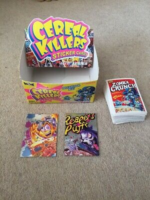Cereal Killers Series 1 Stickers Complete Set Plus Box