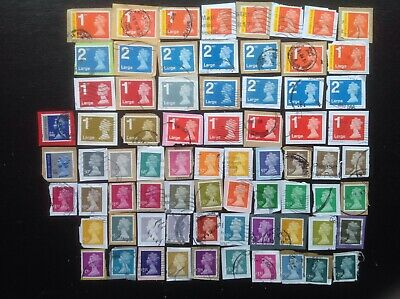 GB STAMPS 72 Different High Value Security Machin Definitives,  Used On Paper