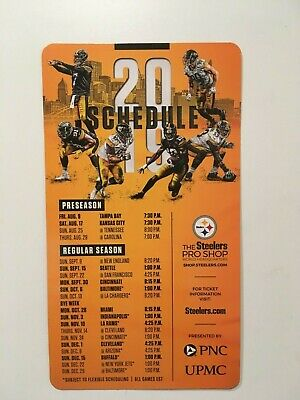 "NFL 2019 PITTSBURGH STEELERS  MAGNET SCHEDULE (5"" x 9"") 6 DIFFERENT PLAYERS-NEW"