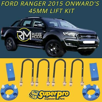 Super Pro TRC169LK Ford Ranger PX2 2015 - 2019 45mm Suspension Lift Kit