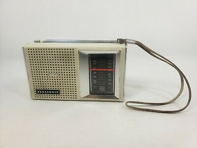 Panasonic Radio RF-541 Transistor Portable AM/FM Ivory Works Vintage