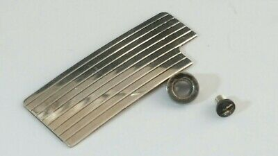 S T DuPont Lighter's Parts For Under Lids line 1 Large & Small Silver VGC DL2