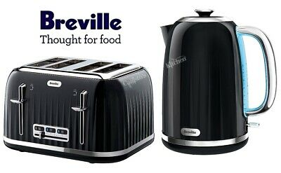 Kettle and Toaster Set Breville Impressions Black Kettle & 4 Slice Toaster - New