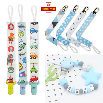 Silicone Beads Baby Boys Girls Dummy Clips Pacifier Soother Chain Straps Plastic