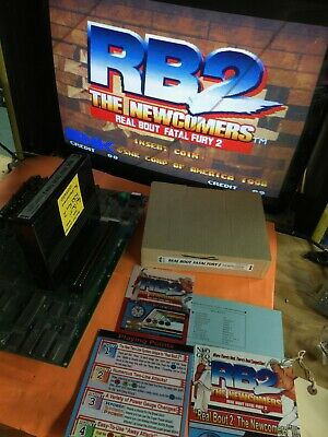 """Fatal Fury 2 Real Bout """"The Newcomers"""" Neo Geo MVS Cartridge"""