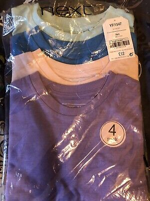 BNWT Next Pack of 4 T-Shirts Age 5