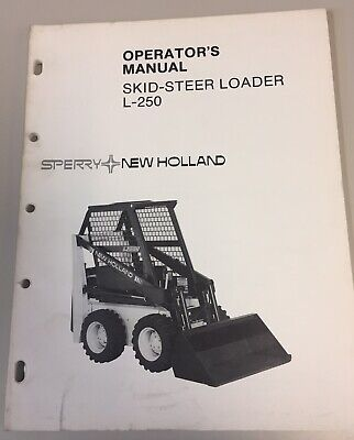 NEW HOLLAND L865 LX865 LX885 Skid Loader Operator's Manual