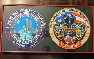 """iron-on and sew-on 8 Pcs FALLEN HEROES 9-11 2001 Embroidered Patches 5/"""" Dia"""