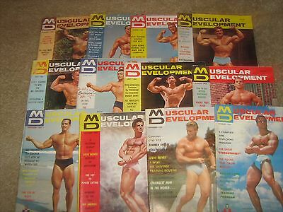 Lot Of 12 Muscular Development Bodybuilding Magazines/1964 COMPLETE YEAR