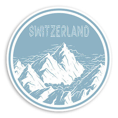 2 x 10cm Skiing Vinyl Sticker iPad Laptop Car Luggage Ski