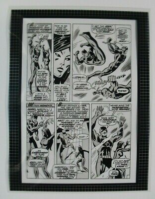 Production Art IRON MAN #35, page 14, DON HECK art, 8.5x11, Daredevil