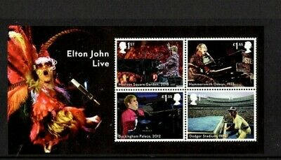 2019 MUSIC GIANTS ELTON JOHN GB  MINI SHEET No Barcode