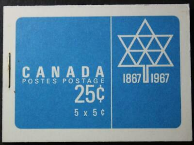 Canada BK52e, MNH OG, Cameo Stamps In Centennial Booklet