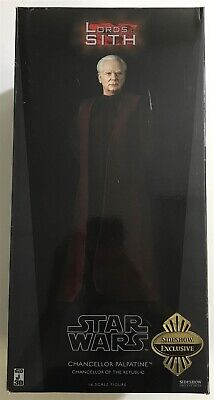 "Sideshow Star Wars 12"" 1:6 Scale Figure Chancellor Palpatine Darth Sidious CIB"
