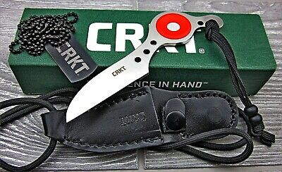 CRKT Van Hoy Cling-On 8Cr13MoV Fixed Wharncliffe Blade Tactical Neck Knife