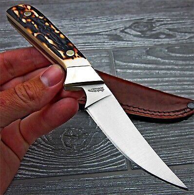 Schrade Uncle Henry Wolverine Full Tang Fixed Blade Hunting Skinning Knife
