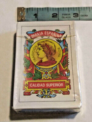 Vtg Deck Puerto Rico Baraja Espanola Briscas Naipes Tarot Spanish Playing Cards