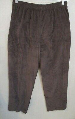 Briggs New York Fine Wale Corduroy Pull On Pants Size Large Dark Brown