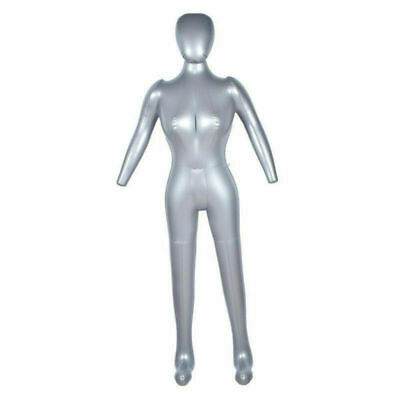 168CM PVC Inflatable Female Mannequin Full Body Dress Model Shop Window Display