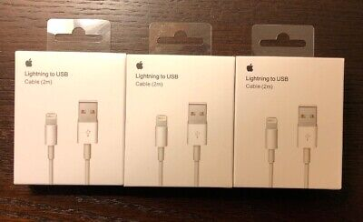 3 Pack 6FT OEM Original Apple Lightning Charging Cable Cord iPhone X,8,7,6s,6,5