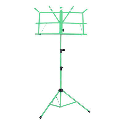 Height Adjustable Sheet Music Stand Folding Foldable, Green