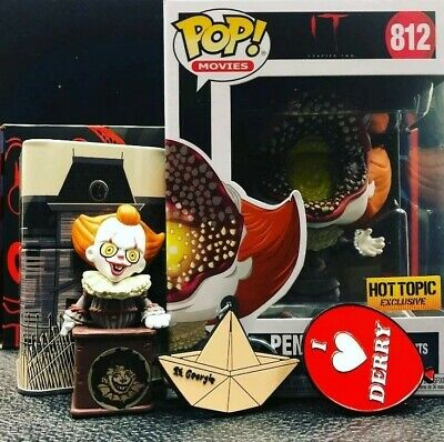 Funko Pop! PENNYWISE IT 2 COLLECTORS BOX Hot Topic Exclusive