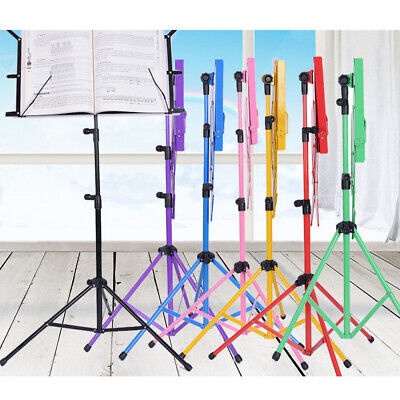 Metal Adjustable Sheet Music Stand Holder Folding Foldable with Carry Bag