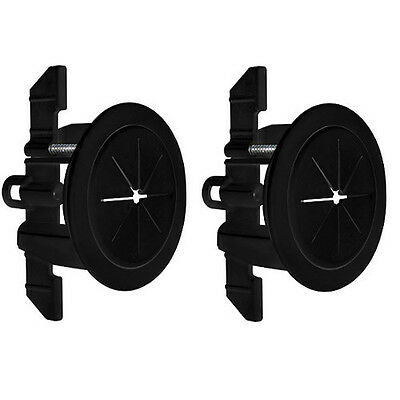 "2 Pack Set Midlite Speedport 2"" Cable Pass Thru Wall Anchor Black MID2024Bx2"