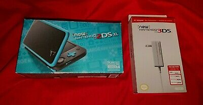 *RARE* NEW Nintendo NEW 2DS XL Blue Black Turquoise Console System + AC Adapter
