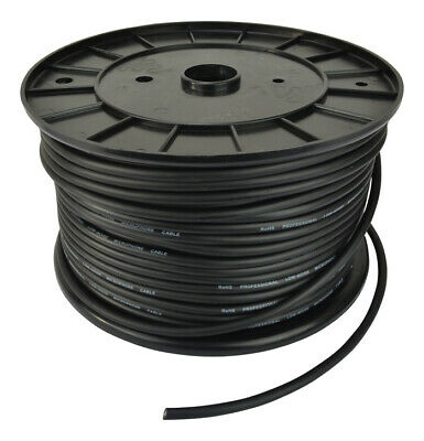 Microphone Cable Black, 100m Reel