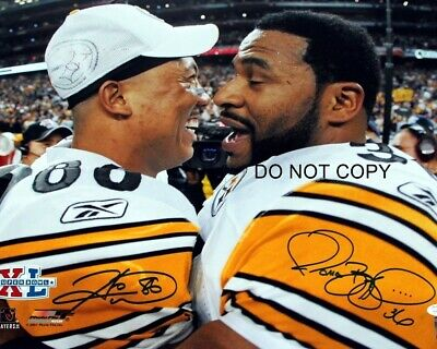 Jerome Bettis & Hines Ward Signed 8x10 Autographed REPRINT PHOTO Steelers RP
