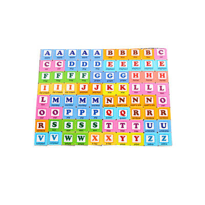 Wooden Scrabble Tiles Letters Craft Alphabet Board Game Fun Toy Gift FW