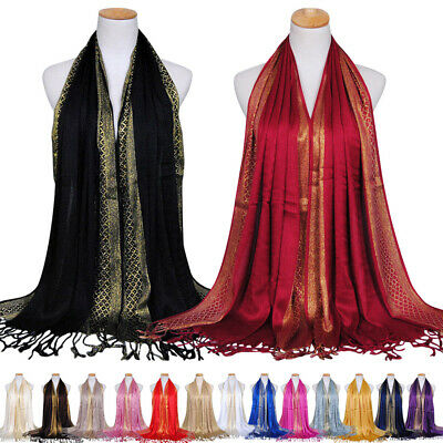 Soft Women Beautiful Long Shawl Wrap Stole Scarf Weddings Bridal Bridesmaid Wear