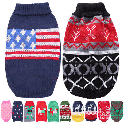 Small Dog Cute Pets Cat Hoodie Warm Sweater Coat Christmas Costume Apparel Puppy