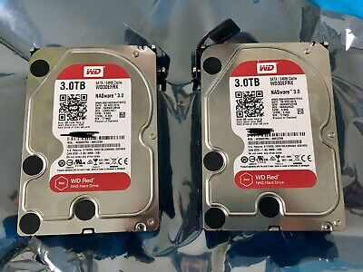 2 x Western digital WD RED NAS Drives 3GB (6GB Total)