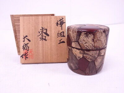 4342926: Japanese Tea Ceremony / Lacquered Tea Caddy Cherry Bark Natsume